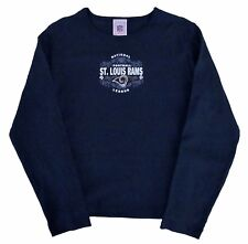 St. Louis Rams NFL Vintage Logo Blue Fashion Long Sleeve Shirt-Women's Sizes-NEW