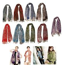 Fashion Womens Winter Warm Cashmere Silk Solid Long Pashmina Shawl Wrap Scarf