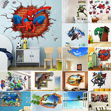 22 Types 3D Wall Stickers Removable Kids Nursery Room Home Decor Mural Art Decal