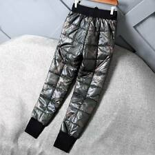 Men's shiny soft nylon wet-look pants trousers bottoms britches camouflage new