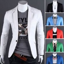 New Stylish Men's Casual Slim Fit One Button Suit Blazer Coat Jacket Tops M-XXXL