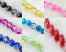 Wholesale Lots Crack bead Round Spacer Loose Beads 4mm/6mm/8mm (8 color choose)