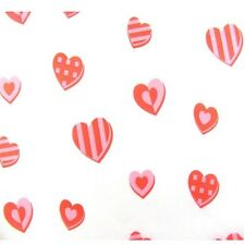 Pink & Red Patterned Love Heart ~ Acid Free Tissue Wrapping Paper Sheets 50x75cm
