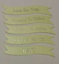 Wedding Invitation Banners - Pistachio Sheen & Silver Foil Writing 25 per pack