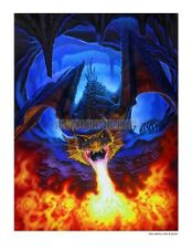 Awesome Fire Breathing Dragon   Extermination   Signed Art Print Den Beauvais