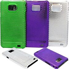for samsung s2 perforated case purple silver green for  i9100 AND i777 model