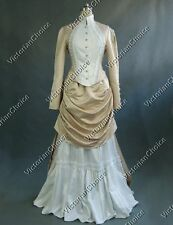 Victorian Edwardian Vintage Wedding Dress Bustle Bridal Gown Holiday Party 139
