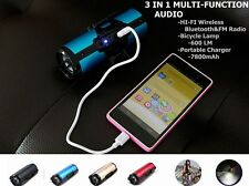 Bicycle Lamp Front Light HI-FI Wireless Bluetooth Radio Speaker Portable Charger