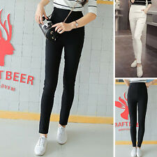 Hot Woman Pencil Stretch Casual Skinny Jeans Pants High Waist Trousers Jeggings