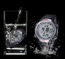 Luxury Sports Watch Waterproof Mens Outdoor Digital LED Quartz Alarm Wrist Watch