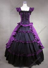 Victorian Gothic Lolita Dress Princess Prom Gown Theatre Steampunk Clothing 085
