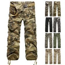 Men's New Military Cargo Pants Camouflage Combat Cotton Army Camo Trousers