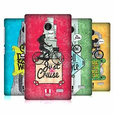 HEAD CASE DESIGNS BICYCLE LOVE HARD BACK CASE FOR NOKIA PHONES 3