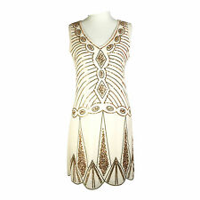Roaring 20's 1920s Vintage Flapper Costume Gatsby Charleston Deco Sequin Dress