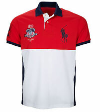 $135 Ralph Lauren Mens Moisture Wicking Big Pony USA Performance Mesh Polo Shirt