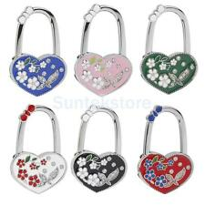 Heart Flowers Folding Table Hook Handbag Purse Tote Bag Hanger Holder Safer GIFT
