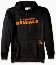 Cincinnati Bengals Full Zip Hoodie Therma Base Delay Plus Size Double Logos NFL