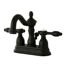 Kingston Brass Tudor Double Handle Centerset Bathroom Faucet with ABS Pop-Up