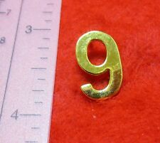 14KT GOLD EP NUMBER 0,1,2,3,4,5,6,7,8,9  LAPEL PIN