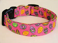 Charming Pink w/ Colored Easter Eggs Dog Collar