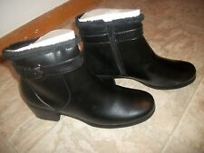 NEW PREDICTIONS BLACK FUR LINED ANKLE BOOTS W/ BUCKLE WOMEN'S SHOES SIZE 13