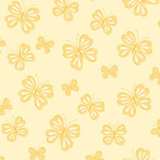 """Brewster Home Fashions You Are My Sunshine 33' x 20.5"""" Butterfly Wallpaper"""
