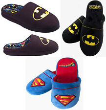 Superman / Batman Classic Logo Lined / Mule Slippers - Official DC Comics
