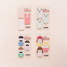 Smile Tab Bookmarks 50 Sheets Index Post-it Sticky Cute Animal Note Memo Pad