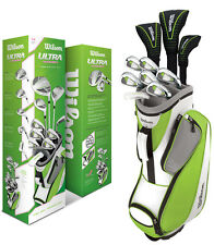 Wilson Ultra Women's Ladies Complete Golf Club Set with Cart Bag | Lime Green