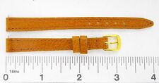 Watchband GENUINE PIGSKIN leather tan 10 mm regular watch strap