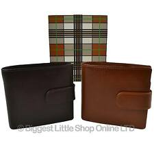 NEW Mens Quality LEATHER WALLET by MALA Gift Boxed Stylish with Tab Coin Pocket