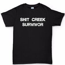 Sh*t Creek Survivor T shirt - Funny Slogan Joke Gift Present for Him Tee