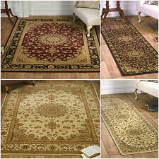 SMALL - LARGE SOFT DENSE RED CREAM HIGH QUALITY TRADITIONAL CLASSIC RUG RUNNERS
