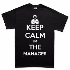 Keep Calm I'm The Manager New Gift T shirt - Funny Slogan T-shirt Tee