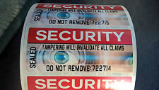 SECURITY Seals FULL COLOUR stickers labels tamper evident protection 70 x 30mm