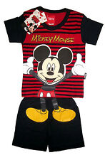MICKEY MOUSE Boys toddler cotton summer outfit set Size S-L Age 1-3 yrs FreeShip