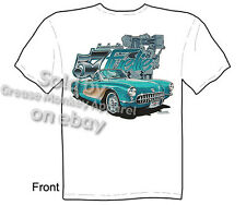 57 Corvette T Shirt Fantastic 1957 C1 Apparel Chevrolet Tee Sz M L XL 2XL 3XL