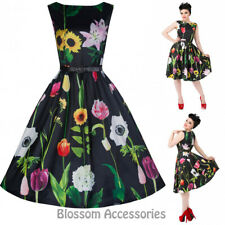 RKB21 Lindy Bop Audrey Wild Flower 50s Rockabilly Vintage Swing Dress Plus Size