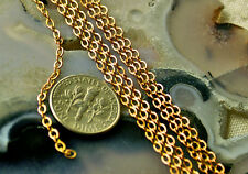 Fine Solid Red Brass Link Chains cable handmade jewelry findings chain c03
