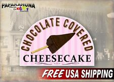 """Dipped Chocolate Covered Cheesecake 12"""" Vinyl Decal Concession Trailer Sticker"""