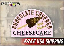 "Chocolate Covered Cheesecake w Pecans 12"" Vinyl Decal Concession Trailer Sticker"