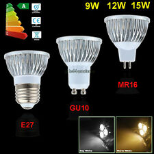 Epistar/Cree 9W 12W 15W GU10 MR16 E27 LED Light Lamp Downlight Spotlight Bulb