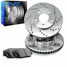 Brake Rotors *FRONT 2 ELINE CROSS DRILLED PERFORMANCE + 4 CERAMIC PADS