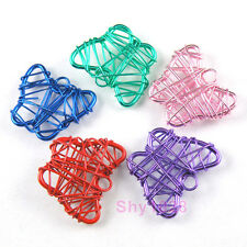 5Pcs Metal Winding Butterfly Charm Pendants 10x22mm,5Colors-1 Or Mixed R5107