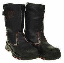 MENS SAVEL BLACK HIGH QUALITY SAFETY RIGGER BOOTS WORK SHOES PROTECTED TOE CAPS