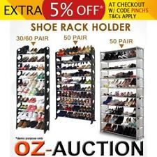 30 50 60 Pairs 10/20-Tier With Legs Shoe Stackable Storage Organiser Rack Holder
