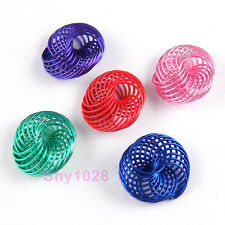 10Pcs Flat Metal Winding Beads DIY Findings 5x12mm,5Colors-1 Or Mixed R5108