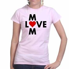 Love Mum Mothers Day Gift for Mom Ladies T shirt Tee Top T-shirt