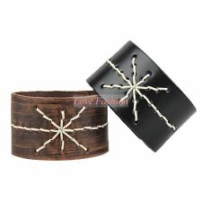 1pcs Leather Bracelet Newest styles Fashion Cuff Bracelet Men Bangle Lots SLA005