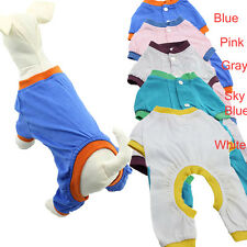 Small Dog Pet Pajamas Clothes Clothing Puppy Coat Cat Jumpsuit Outwear Apparel